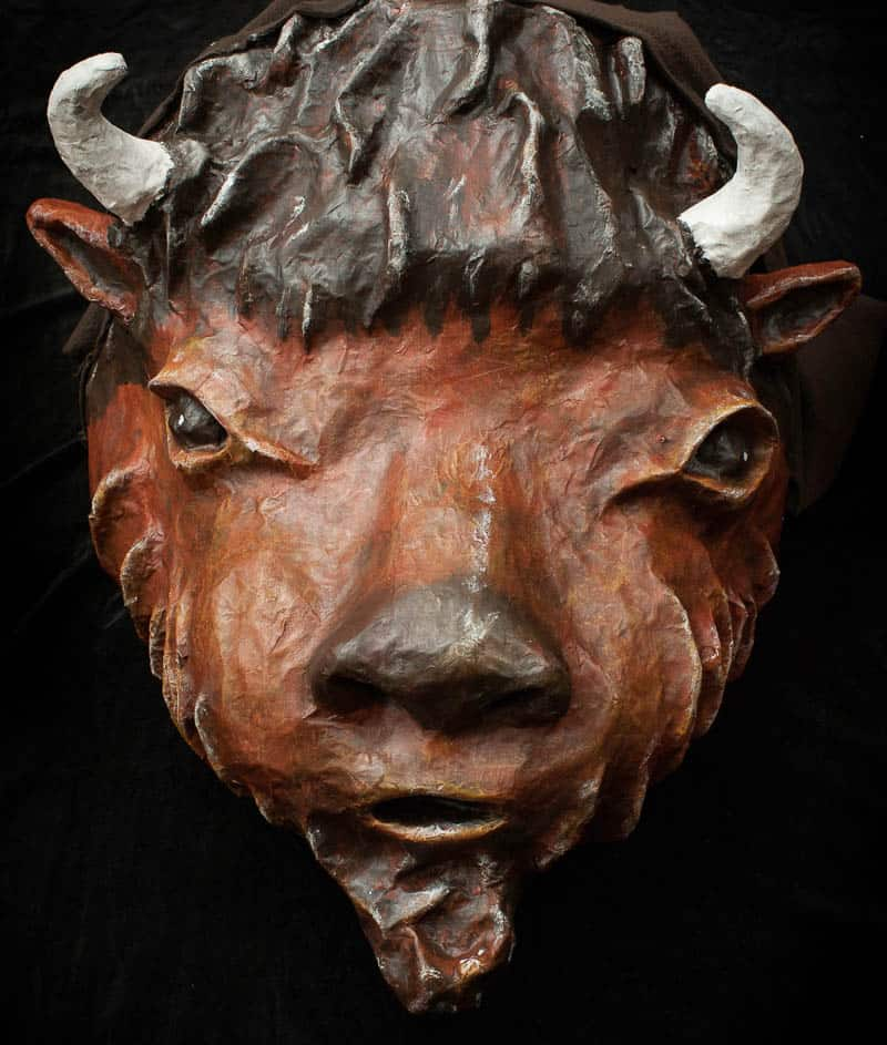 Giant Bison Head by Anne Sawyer
