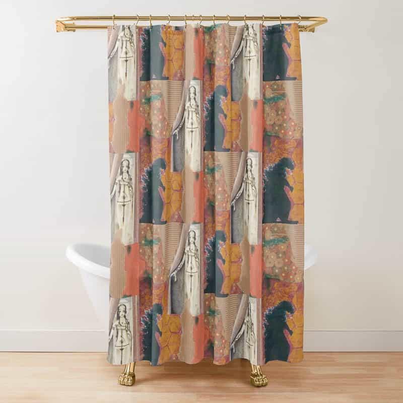 La-Belle-Dame-Sans-Merci-Shower-Curtain-Anne-Sawyer