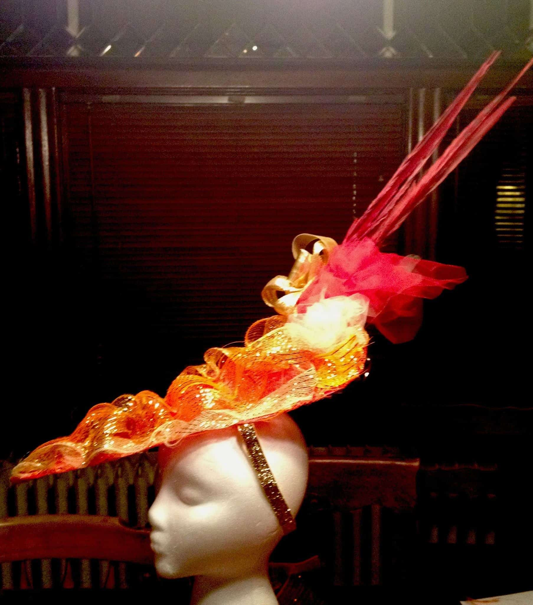 Phoenix hat, designed for May Day 2015