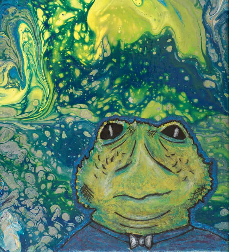 Cosmic Frog Man by Anne Sawyer