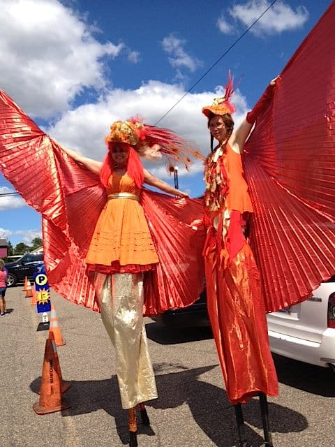 Phoenix Stlter Costumes. Co-designed with Tara Fahey for the May Day Parade, 2015.